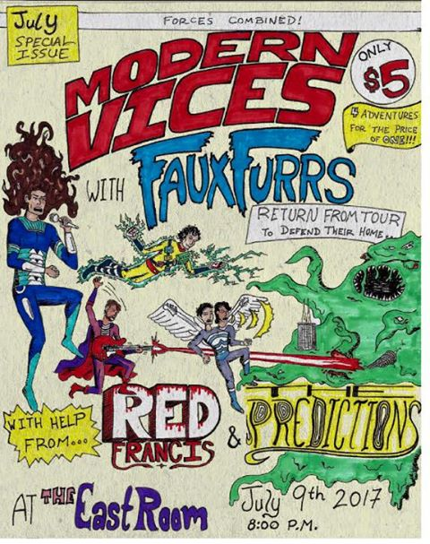 Faux Furrs tour homecoming with Modern Vices, Red Francis and The Predictions
