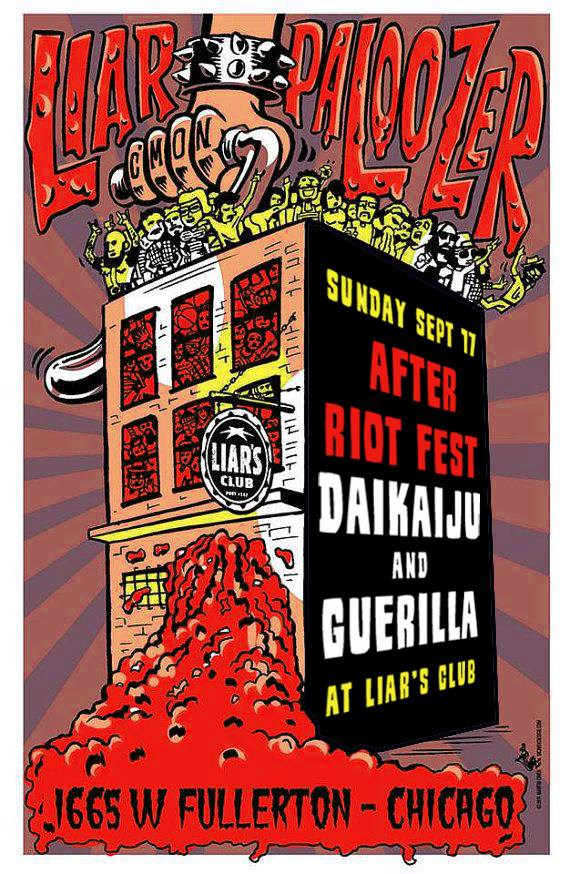 Daikaiju & Guerilla at Liars Club Riot Fest 2017 Chicago Afterparty