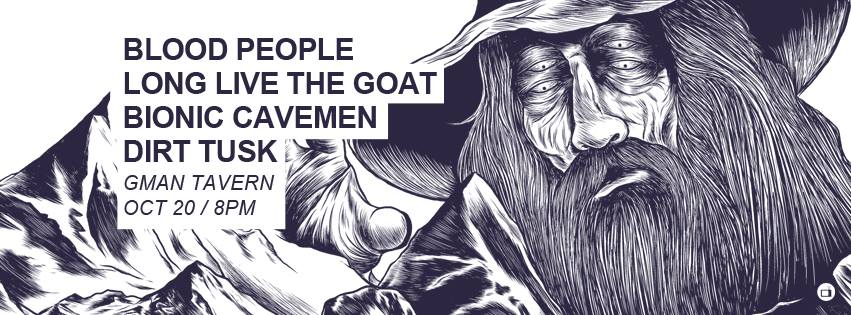 Blood People / Long Live The GOAT / Bionic Cavemen / Dirt Tusk - Parasites @ GMAN Tavern - 10.20.17