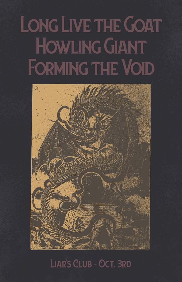 Long Live the GOAT / Howling Giant / Forming the Void at Liar's