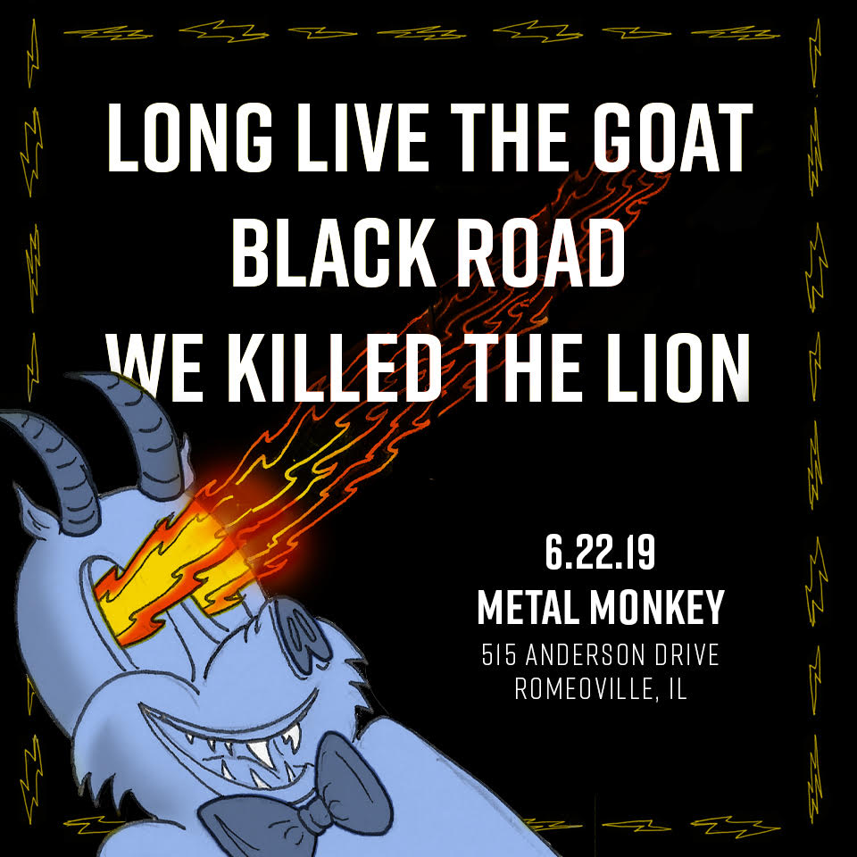 LIVE Music @ Metal Monkey Brewery : We Killed The Lion / Black Road / Long Live The GOAT